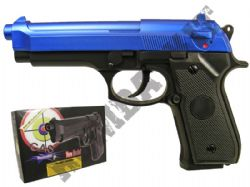 GG104 Gas Powered Airsoft BB Gun Black and Blue